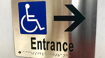 ADA signs and braille signs