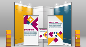 Trade show banners and trade show displays