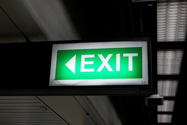 Wayfinding Exit Signs