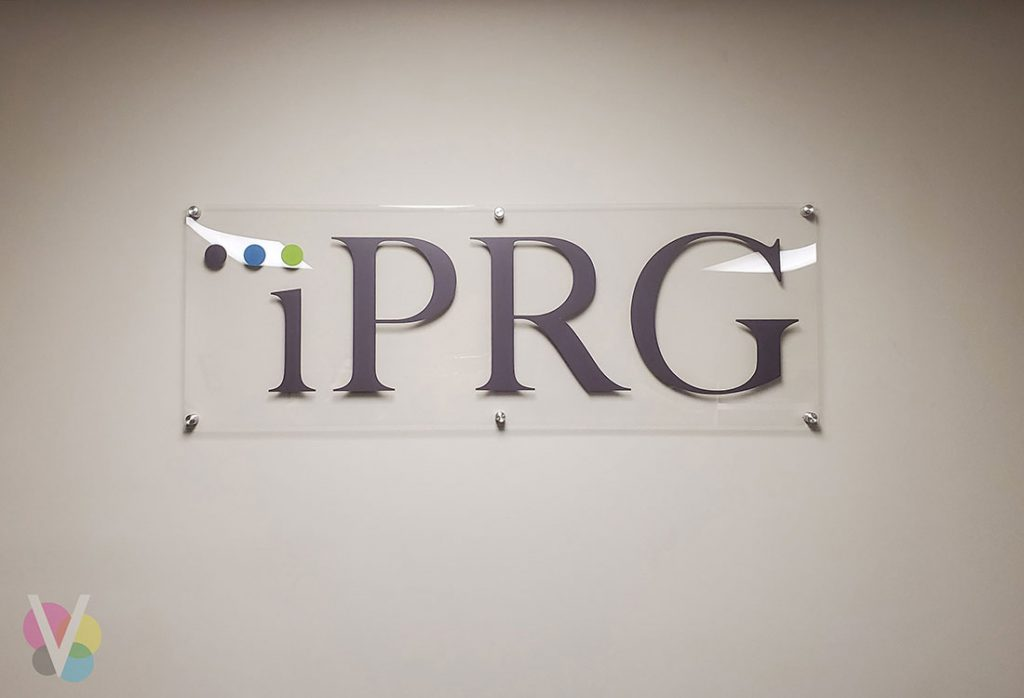 Case study of custom lobby sign for IPRG client