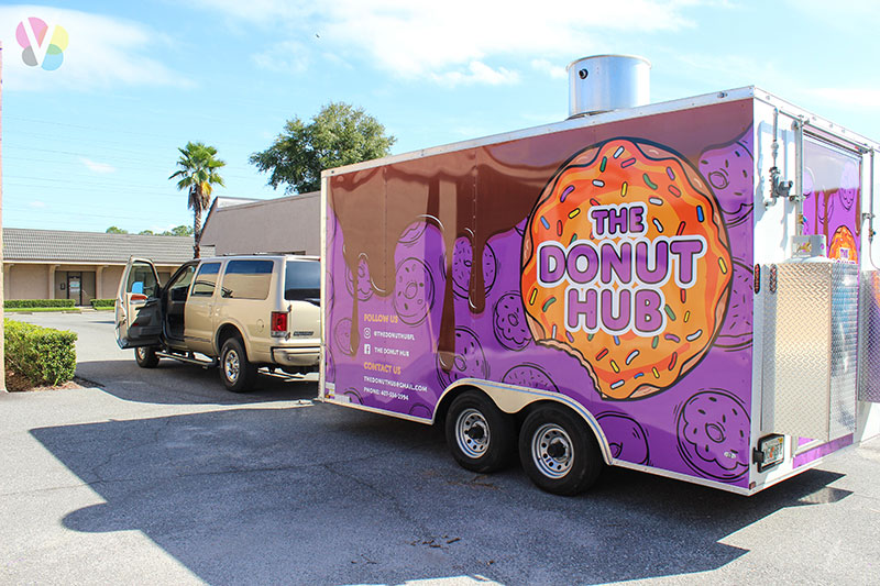 Food truck wraps case study by Visual Signs & Graphics in Orlando, FL
