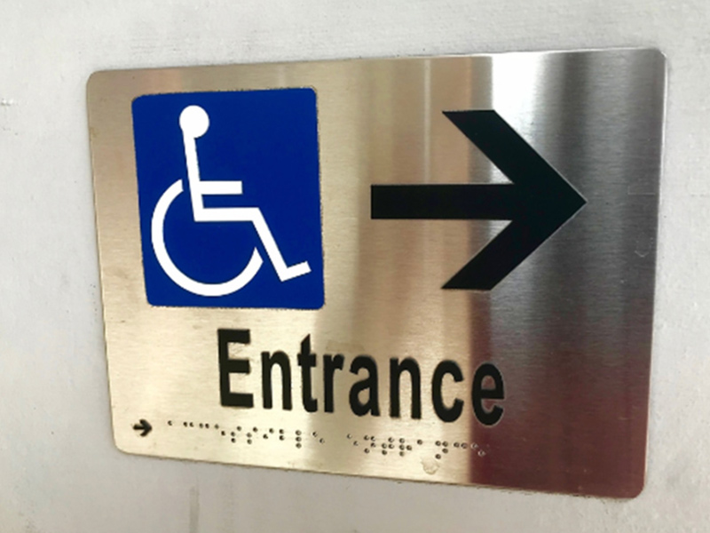 Wayfinding ADA braille signs in Orlando, FL
