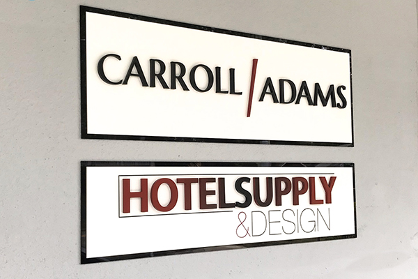 office reception signage