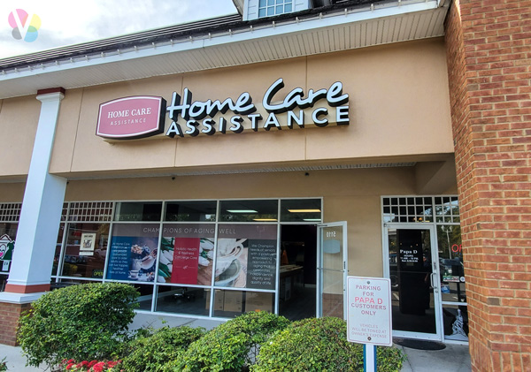 Customized Storefront Signs for Home Care Assistance by Visual Signs in Orlando, FL