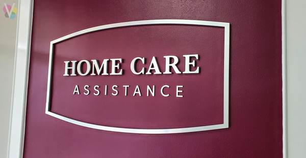 Home Care Assistance Lobby Signs Custom Made by Visual Signs in Orlando, FL