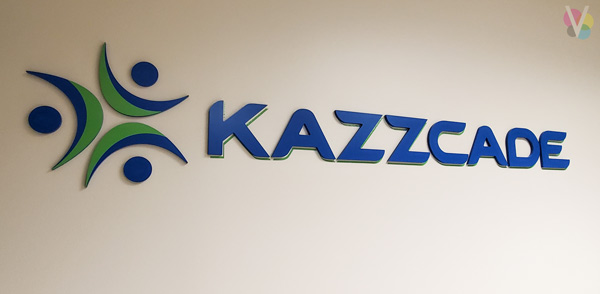 KAZZCADE Office Lobby Signage by Visual Signs in Orlando, FL