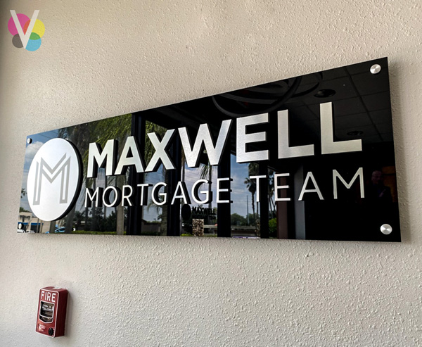 Maxwell Mortgage Team Customized Lobby Signs in Orlando, FL
