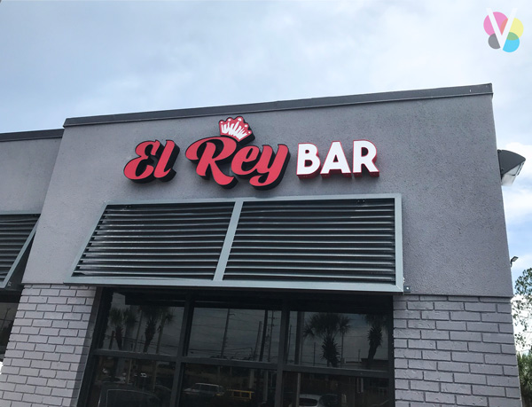 El Rey Bar LED Channel Letter Signs Custom Made by Visual Signs in Orlando, FL