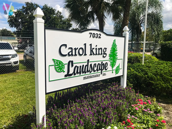 Carol King Landscape Monument Signs Custom Made by Visual Signs in Orlando, FL