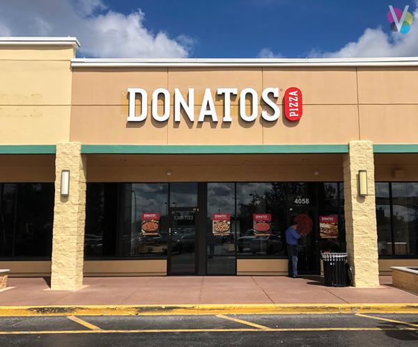 DONATOS Pizza Channel Letters in Orlando, FL
