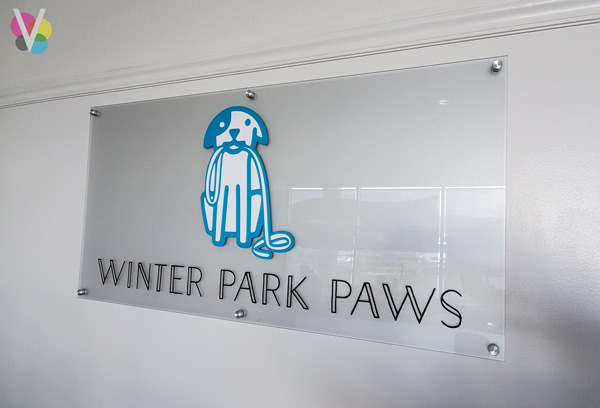 Winter Park Paws Acrylic Office Lobby Signage in Orlando, FL