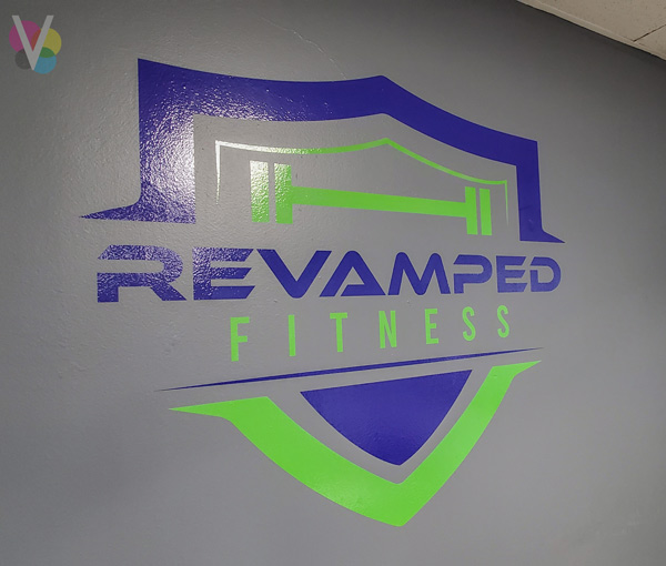 Vinyl wall graphics for Revamped Fitness in Orlando, FL