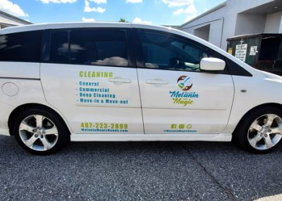 Side car wraps designed and installed by Visual Signs in Orlando, FL