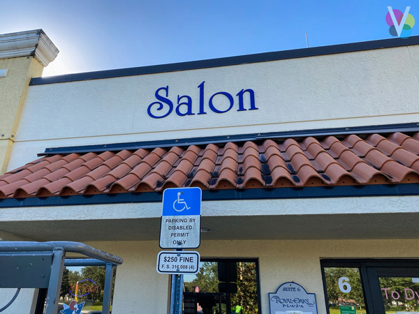 Salon Acrylic Outdoor Business Signs by Visual Signs in Orlando, FL