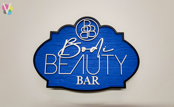Bodi Beauty Bar HDU Lobby Signs Custom Made by Visual Signs in Orlando, FL