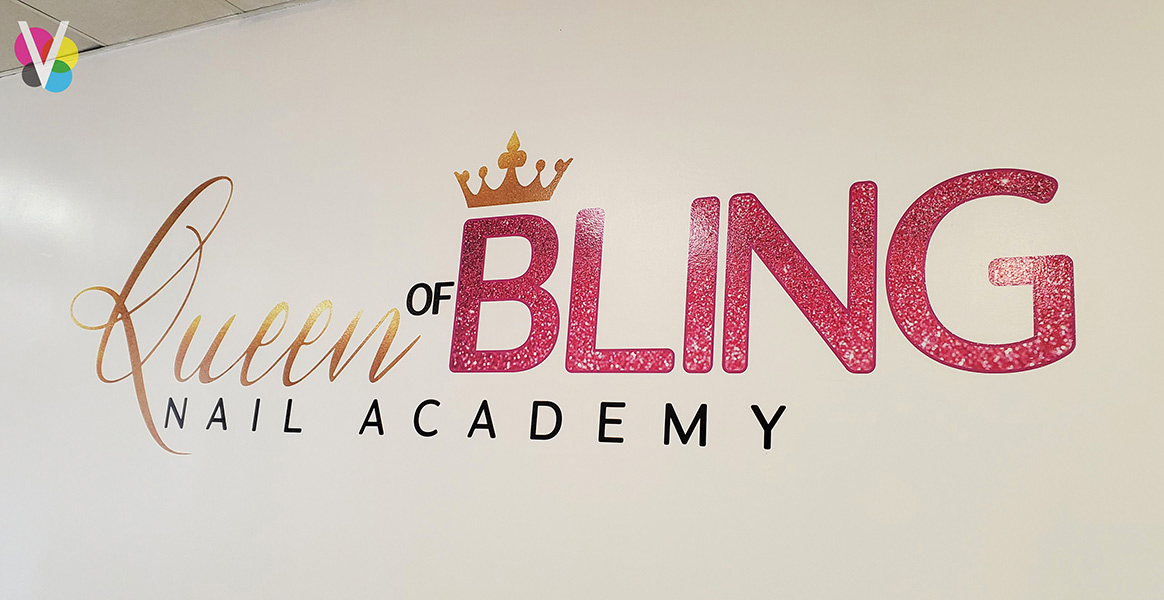 Removable Vinyl Wall Decals for Queen of Bling in Orlando, FL