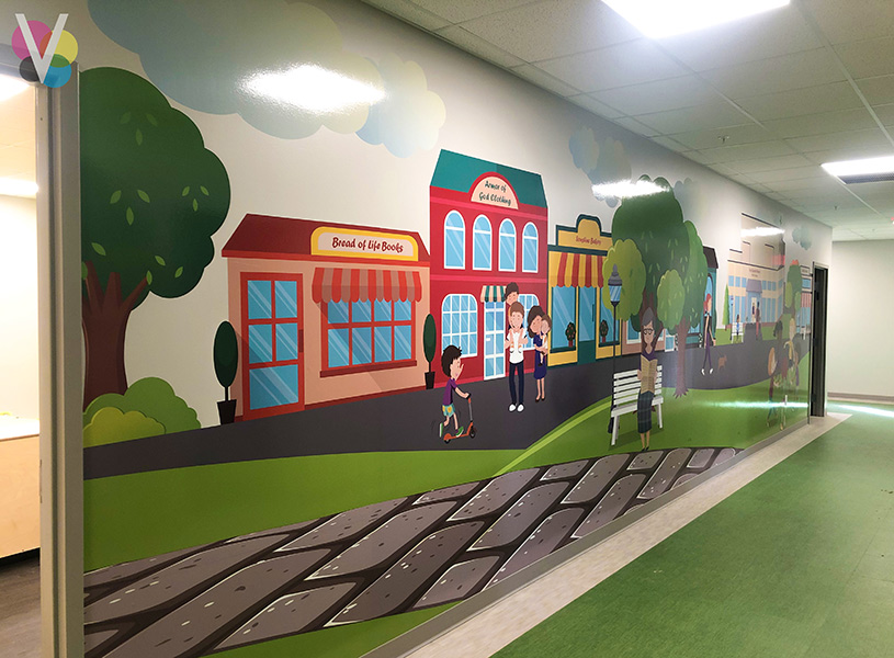 Custom Wall Decals for School Wall in Orlando, Florida
