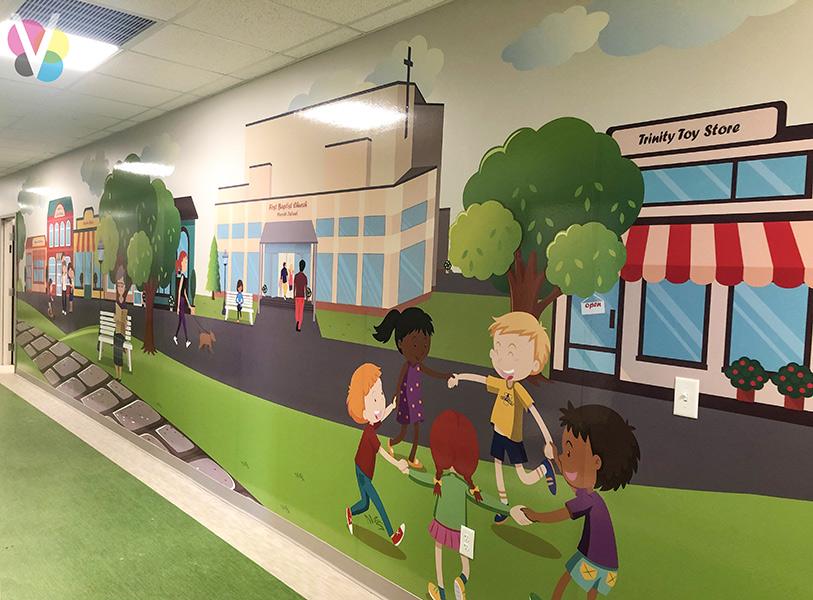 Custom Wall Murals for School in Orlando, FL