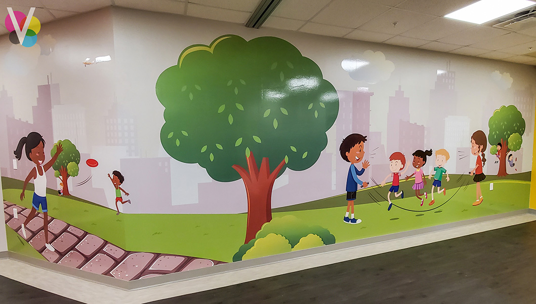 Attractive Wall Graphics Custom Made by Visual Signs in Orlando, FL