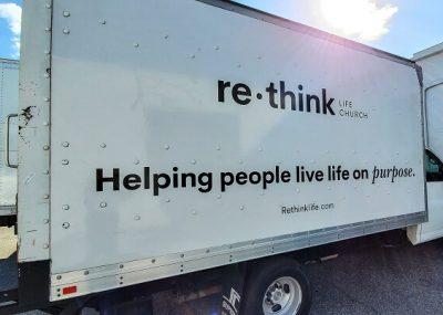 Re Think Custom Vinyl Box Truck Decals in Orlando, FL