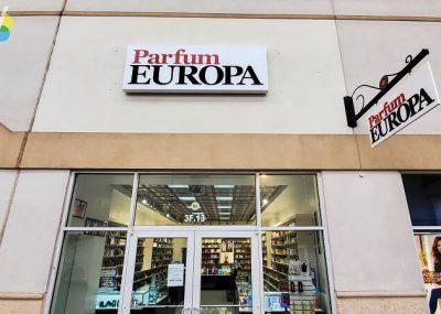 Parfum Europa Storefront Signs in Orlando, FL