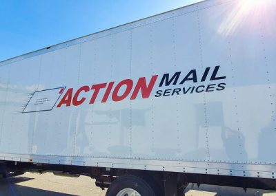 Large Commercial Truck Wraps for Action Mail Service in Orlando, FL