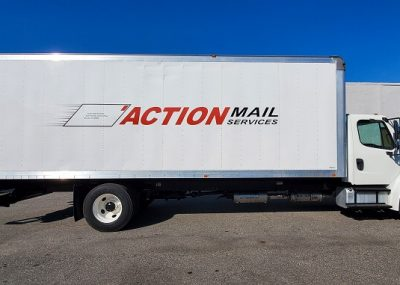 Large Vinyl Wraps Action Mail Services Made in Orlando, FL