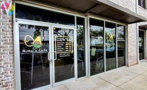 Custom Business Window Graphics for Moma's Café in Orlando, FL
