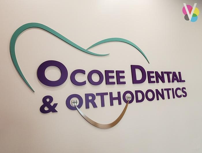 Custom 3D Lobby Signs for Ocoee Dental in Orlando, FL