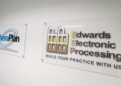 Custom Acrylic Signs for Thera Plan Made in Orlando, FL