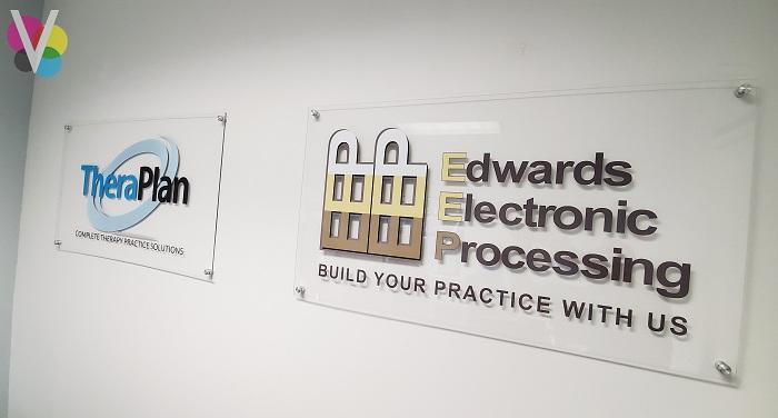 Acrylic Lobby Signs for EEP in Orlando, FL