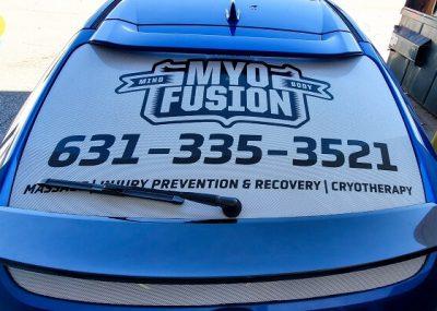 Rear Car Vinyl Window Graphics in Orlando, FL