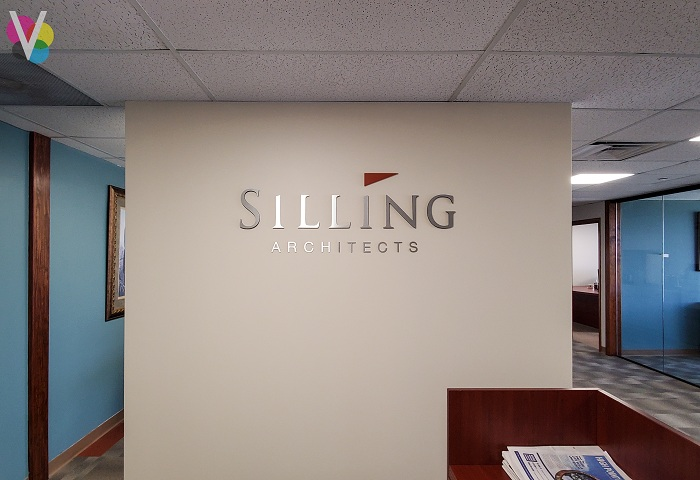 Silling Architects Metal Lobby Signs in Orlando, FL